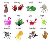 Hand Print Calendar | The WHOot