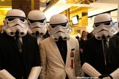 Creative Star Wars Costumes - fancy suited Stormtroopers!