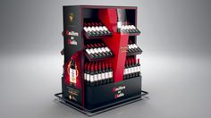 Casillero del Diablo Wine POP Simulation 3d, Promotional Stands, Pos Design, Displays, Point Of Purchase, Pop Display, Contract Furniture, 3ds Max, Shopping