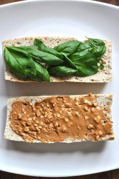 Peanut Butter and Basil Sandwich