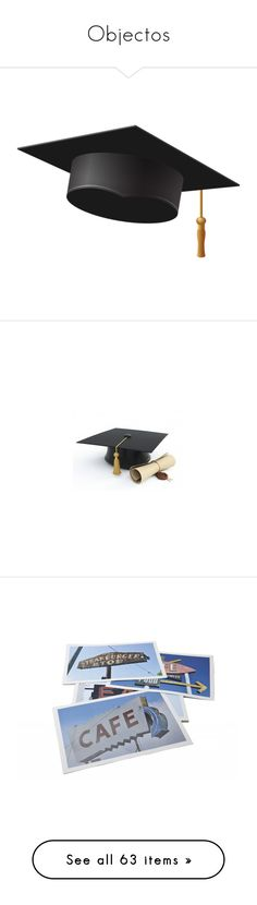 """""""Objectos"""" by elda-1985 ❤ liked on Polyvore featuring accessories, graduation, hats, filler, embellishment, backgrounds, detail, school, home and kitchen & dining"""