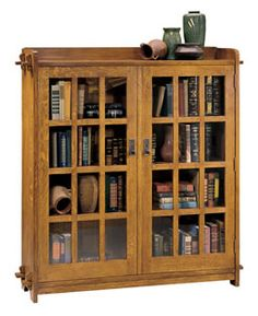 Double Bookcase with Glass Doors | Stickley Furniture