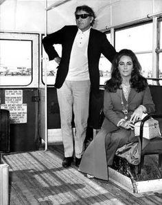 Richard Burton and Elizabeth Taylor.