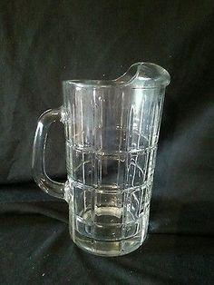 Anchor Heavy Glass Beverage Pitcher