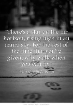 """""""Why Walk When You Can Fly"""" by Mary Chapin Carpenter"""