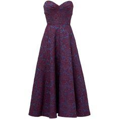 Rental Jill Jill Stuart Victoria Tea Dress ($60) ❤ liked on Polyvore featuring dresses, gowns, vestidos, long dresses, sweetheart long dress, purple sleeveless dress, purple gown, sleeveless gown and sweetheart dress