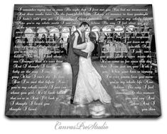 Anniversary day gift First Dance Lyrics, Picture with Wedding Vows, Gift, Wedding Vows Canvas, Wedding Anniversary, Wife for Husband Gift by CanvasProStudio on Etsy https://www.etsy.com/listing/452993210/anniversary-day-gift-first-dance-lyrics
