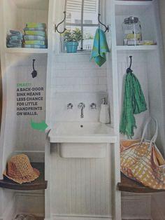 Backdoor sink Door Storage, Back Doors, Sink, Board, Wall, House, Vessel Sink, Home, Sink Tops
