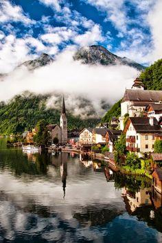 The Village of Hallstatt - Salzkammergut, Austria, - via   Pars Kutay's photo on Google+