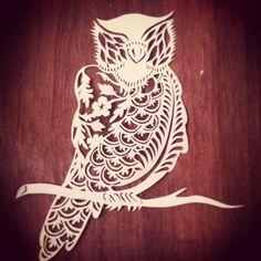 #owl #papercutting