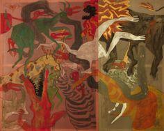 #Obraz #pełen #dzikich #zwierząt #painting #full #of #wild #animals  Szymon Szlec http://szszymon.blogspot.com/