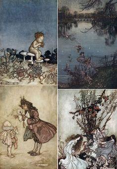 Peter Pan in Kensington Gardens, written by J.M. Barrie, illustrated by Arthur Rackham.