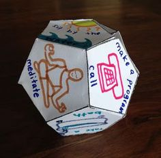 12-Sided Recovery Dice - could make this for anxiety or depression, kids dealing with bullies, etc.                                                                                                                                                                                 More