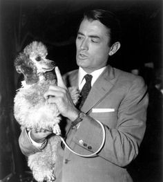 Gregory Peck and his Poodle
