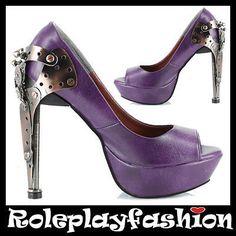 Steampunk purple heels $124.00