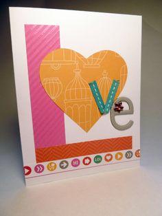 LOVE Valentine Card by Amy Adams