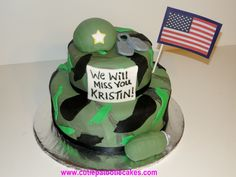 We will give you various cake design ideas for your reference Military Cake, Cupcake Cakes, Cupcakes, Going Away Parties, Cake Designs, Sweet Tooth, Cake Ideas, Party, Desserts