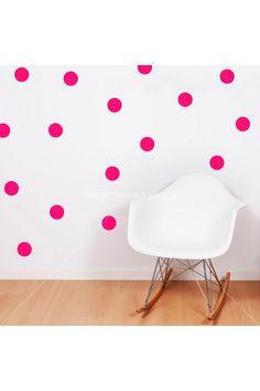 Circle Dot Wall Decals | Polka Dots Stickers | Teen Girl & Dorm Room Wall Decal