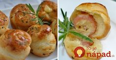 Perfektný tip na predjedlo, alebo chuťovku k poháru vínka. Pripravte si jemné cesnakové pečivo pečené vo forme na muffiny, ktoré ukrýva vo vnútri chutné prekvapenie.