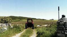 Red tractor. Rathlin Island #my own #S.Campbell