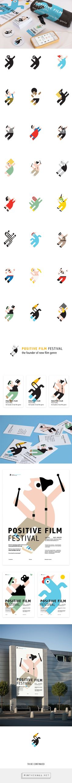 Positive Film Festival on Behance icon design characters people poster layout branding