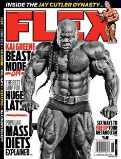Kai Greene on cover of Flex magazine