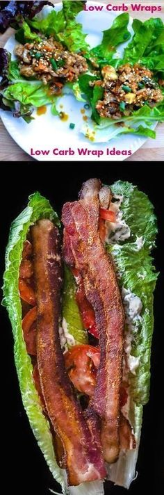 Low Carb Wraps Low Carb Wrap Ideas ♥►◄♥ PLUS DAILY updates on healthy wrap ideas #carbswitch carbswitch.com #NoCarbDiets,