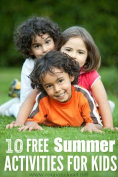 Are you trying to find fun things to do during Summer? Here are Ten fun and FREE Summer Activities for Kids.