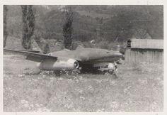 Ju 87 D-3 from NSGr 9 and me 262 w nr 111857 in Innsbruck Kranebitten (Hötting), Austria