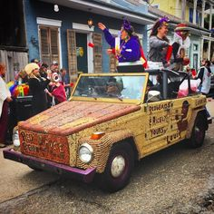 New Orleans Culinary Tradition, Red Bean Mondays has it's own Mardi Gras Parade.