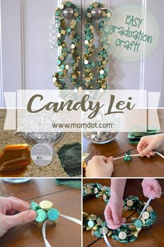 Mother's Day Gifts & Crafts : Candy Lei: A simple Graduation gift – Craft Gifts, Diy Gifts, Homemade Gifts, Graduation Crafts, College Graduation, Leis For Graduation, Easy Diy Candy, Diy And Crafts, Crafts For Kids