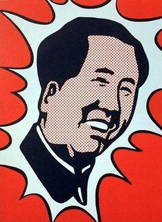 Roy Lichtenstein-MAO (C. wall poster, Fine Art print, Gallery Canvas wrap,(Custom Sizes Up To 60 inches) Andy Warhol, Pop Americano, Roy Lichtenstein Art, Richard Hamilton, Modern Art, Contemporary Art, Industrial Paintings, Pop Art Movement, Art Moderne