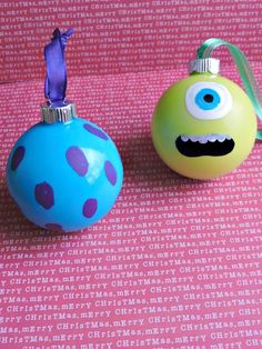 Disney Pixar Monsters, Inc. Inspired Ornaments