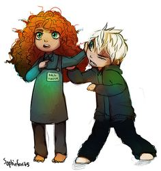 Merida & Jack. Don't mess with Merida. Just...don't. lol XD