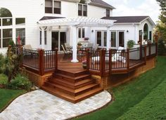 Stain on a deck will just persist for a few decades. Patio decks are normally made of wood and wood pallets. The deck has turned into a revered outdoor space of the contemporary American home. If your deck is made… Continue Reading → Free Standing Pergola, Deck With Pergola, Pergola Plans, Pergola Ideas, Railing Ideas, Pergola Kits, Black Pergola, Pergola Cover, Steel Pergola
