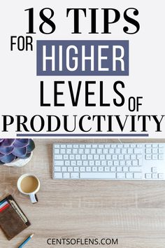 Do you struggle with being productive? Here are 18 tips for achieving higher levels of productivity today! #productivity #productivitytips #productivehabits #productivityhacks #lifehacks #getstuffdone