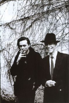 Bowie with Brett Anderson of Suede by Anton Corbijn, 1993. Joint interview for the NME.