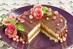 Tort urodzinowy #smacznastrona #poradytesco #tort #urodziny #pycha #sweet #krem #budyń