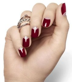 Image result for nail red moons