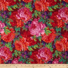 Kaffe Fassett Collective Luscious Magenta from Designed by Phillip Jacobs for Westminster/Rowan Fabrics this cotton print fabric is perfect for quilting apparel and home decor accents. Colors include magenta pink orange purple and gold. Home Decor Colors, Home Decor Fabric, Colorful Decor, Westminster, Magenta, Pink Purple, Flower Drawing Images, Daisy, Free Spirit Fabrics