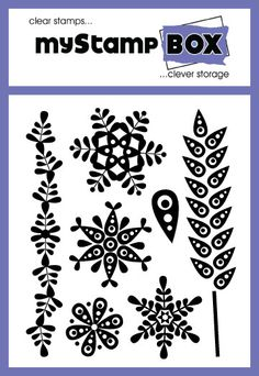 Ornamental Flowers - clear stamps -  stamp set from myStamp BOX