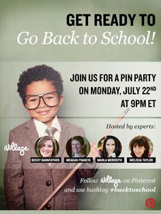 Join the iVillage Back to School Pin Party on Monday, July 2013 at ET Back 2 School, Beginning Of The School Year, New School Year, Going Back To School, School Readiness, School Counseling, School Organization, Organizing, School Community