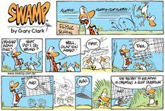 Swamp Cartoons: Crashed Again Ding Comic