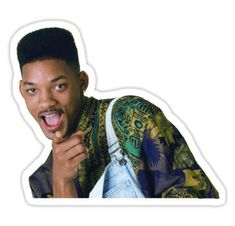 The Fresh Prince of Bel-Air - Will Smith Sticker Snapchat Stickers, Meme Stickers, Tumblr Stickers, Cool Stickers, Laptop Stickers, The Smiths, Prince Of Bel Air, Fresh Prince, Will Smith Meme