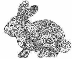 Bunny zentangle