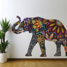 Elegant Elephant Wall Sticker - Decal WANT SO BAD UGH