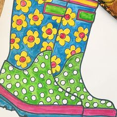 Artwork to match the weather today #wellies #spring #splash #puddles