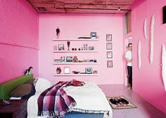 Baker-Miller pink bedroom