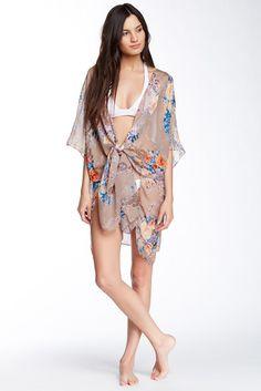 Wearable Paisley Floral Print Wrap
