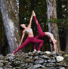 @chintwins in the #AloYoga Entwine Legging #yoga #inspiration Poses Gimnásticas, Couples Yoga Poses, Acro Yoga Poses, Yoga Poses For Two, Partner Yoga Poses, Yoga Fitness, Physical Fitness, Yoga Photos, Yoga Photography